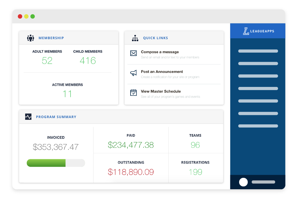 Sports Club Management Software From Leagueapps Payments